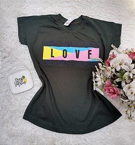 Camisa No Atacado Love Musgo