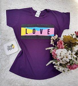 Camisa No Atacado Love Roxo