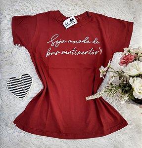 Camisa  No Atacado Sentimentos Vermelho