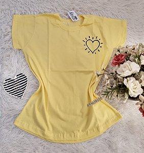 Camisa  No Atacado Coração Amarelo