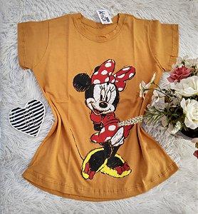 Camisa  No Atacado Minnie Charmosa Mostarda