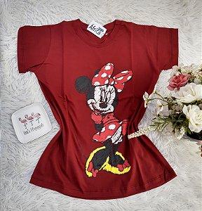 Camisa  No Atacado Minnie Charmosa  Vermelho