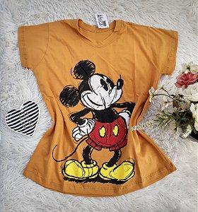 Camisa  No Atacado Mickey Mostarda
