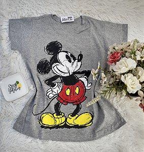 Camisa  No Atacado Mickey Cinza