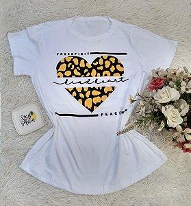 Camisa  No Atacado Coração Branco