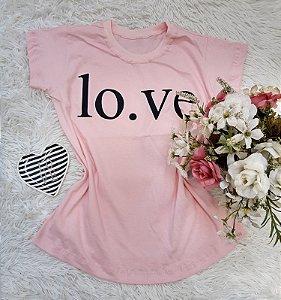 Camisa No Atacado Love Rosa