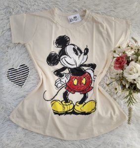 Camiseta No Atacado  Mickey Creme