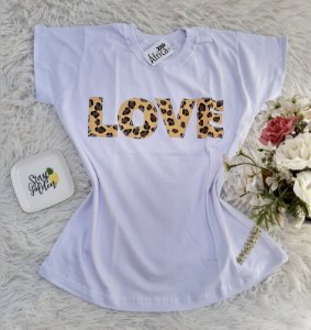 Camiseta No Atacado Love Branco