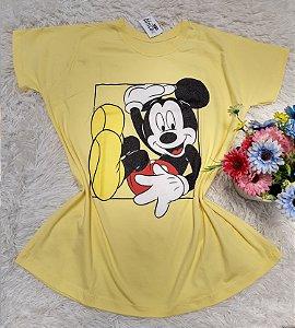 Camiseta No Atacado Mickey Amarelo