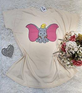 Camiseta No Atacado Dumbo Creme