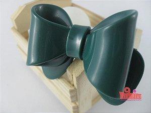Presilha Coleção Laços Fita Flor Acessórios. Verde Petróleo Acetinado