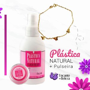 Hidratante Facial Plástica Natural -  Eloisa Medina + Brinde Pulseira Borboleta