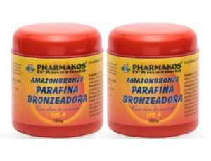 Amazon Bronze Parafina Bronzeadora 180g Kit com 2 Unidades