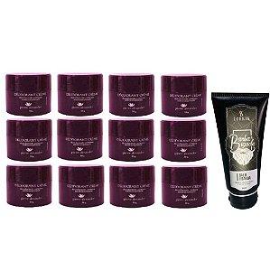 Desodorante em Creme Pierre Alexander 50g 12 Und + Balm Lorkin
