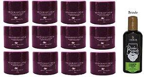 KIT 12 Und Desodorante Pierre Alexander Creme Antitranspirante + Shampoo Lorkin