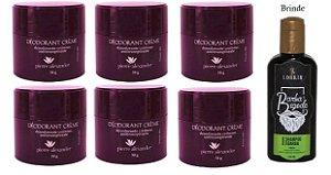 KIT 6 Und Desodorante Pierre Alexander Creme Antitranspirante + Shampoo Lorkin