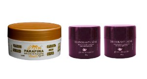 Kit Desodorante em Creme Pierre Alexander 50g 02 Und + Parafina Bronzeadora Lorkin