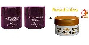 KIT 2 Und Desodorante Pierre Alexander Creme Antitranspirante + Parafina Lorkin