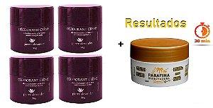 KIT 4 Und Desodorante Pierre Alexander Creme Antitranspirante + Parafina Lorkin