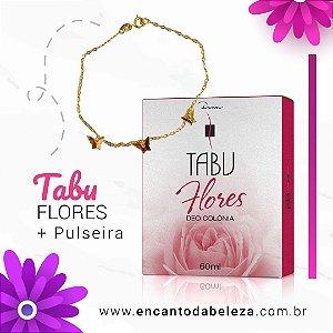 Deo Colônia Tabu 60ml Flores +Brinde Pulseira Borboleta