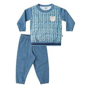 Conjunto blusão e calça Marlan