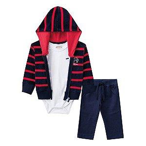 Conjunto jaqueta, body e calça Milon