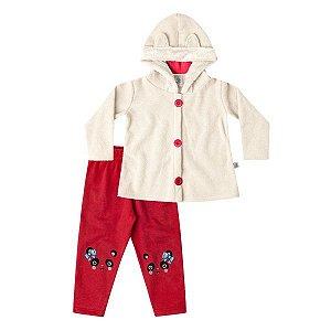 Conjunto casaco e calça Marlan