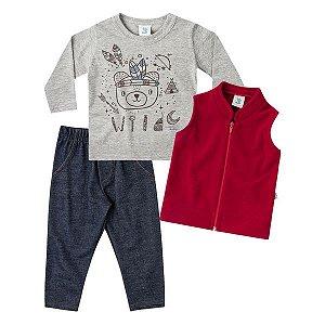 Trijunto camiseta, colete e calça Marlan