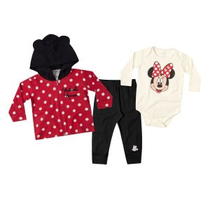 Trijunto Disney de jaqueta, body e calça por Marlan
