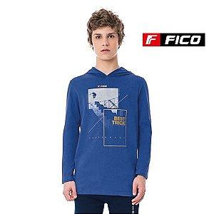 Camiseta com capuz Fico