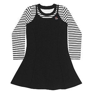 Conjunto vestido e blusa Rovitex