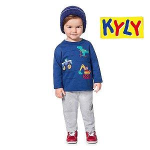 Conjunto blusão e calça Kyly