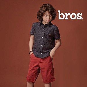 Conjunto camisa e bermuda bros.