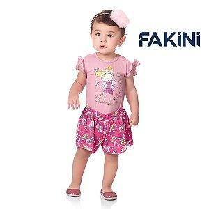 Conjunto blusa e short Fakini