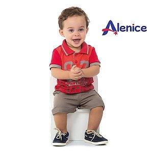 Conjunto camisa e bermuda Alenice