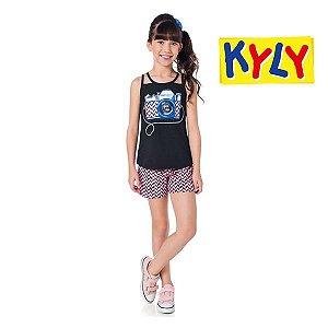 Conjunto blusa e short Kyly
