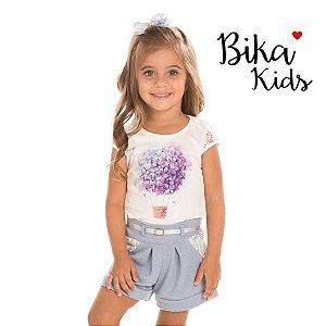 Conjunto blusa e short Bika Kids