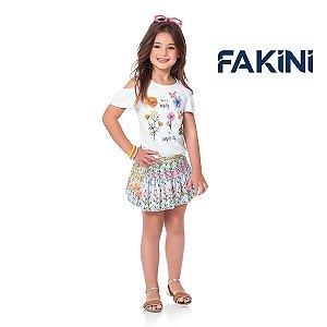 Conjunto blusa e short saia Fakini