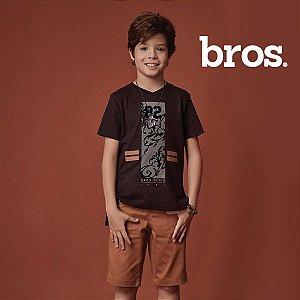 Conjunto camiseta e bermuda bros.