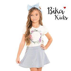 Conjunto blusa e saia Bika Kids