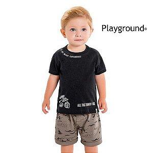 Conjunto camiseta e bermuda Playground