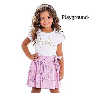 Conjunto blusa e short saia Playground
