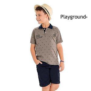 Conjunto camisa polo e bermuda Playground