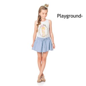 Conjunto regata e short saia Playground