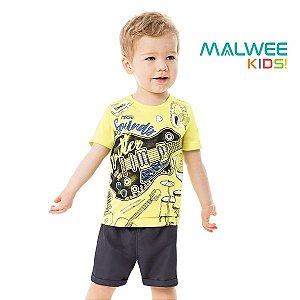 Conjunto camiseta e bermuda Malwee