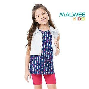 Conjunto blusa e bermuda Malwee