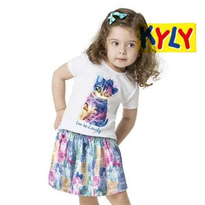 Conjunto blusa e saia Kyly