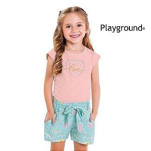 Conjunto blusa e short Playground