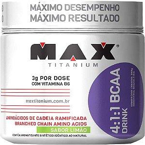 BCAA 4:1:1 Drink - Suplemento Alimentar Limão 280g - Max Titanium