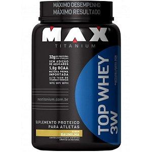 Max Titanium Top Whey 3W Pote Pó 900 g - Baunilha